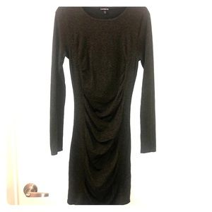 Express Ruched long sleeve sweater dress 👗